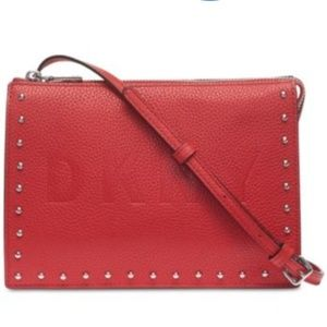 DKNY Commuter Zip Leather Crossbody Bag